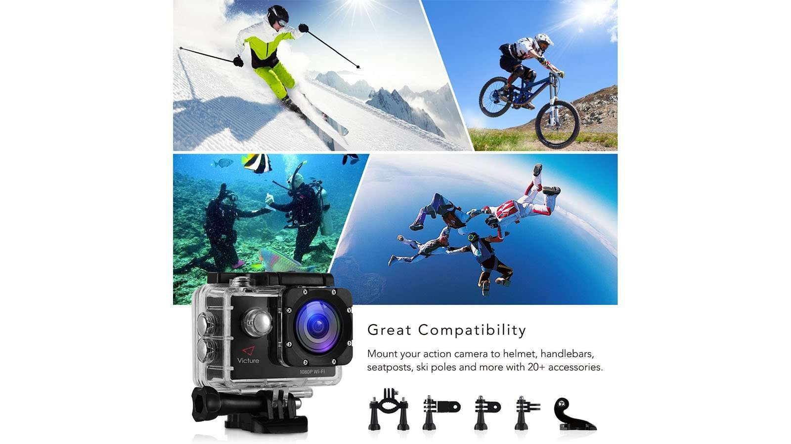 Victure Sports Action Camera 14MP review 4